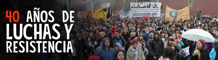 Manifiesto 40 años de luchas y resistencia